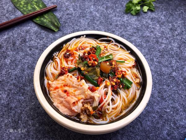 家庭版小锅米线的做法