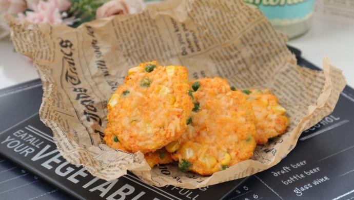 芝士鸡肉蔬菜饼
