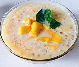 芒果椰汁西米露(附西米煮法以及芒果切法)的做法