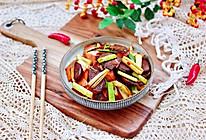 #钟于经典传统味#腊肠辣炒蒜苗的做法