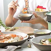 清蒸海鲜配二米粥