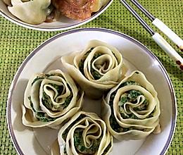 玫瑰花饺子皮卷的做法