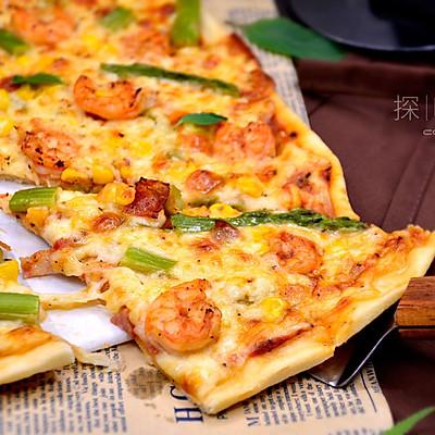 【鲜虾芦笋薄底披萨】——COUSS CO-537A智能烤箱出