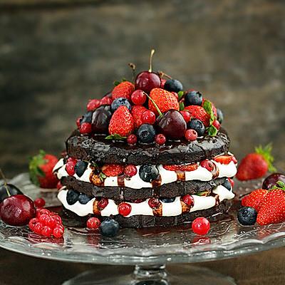经典巧克力裸蛋糕