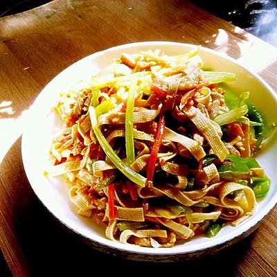 小炒豆腐皮