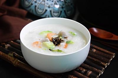 丝瓜香芋虾米粥