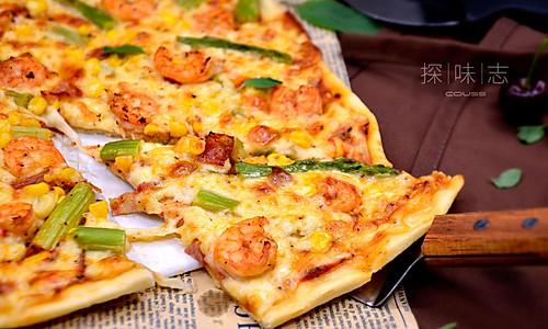 【鲜虾芦笋薄底披萨】——COUSS CO-537A智能烤箱出的做法