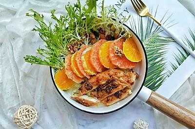 #西餐#橙柚蒜香鸡胸肉沙拉