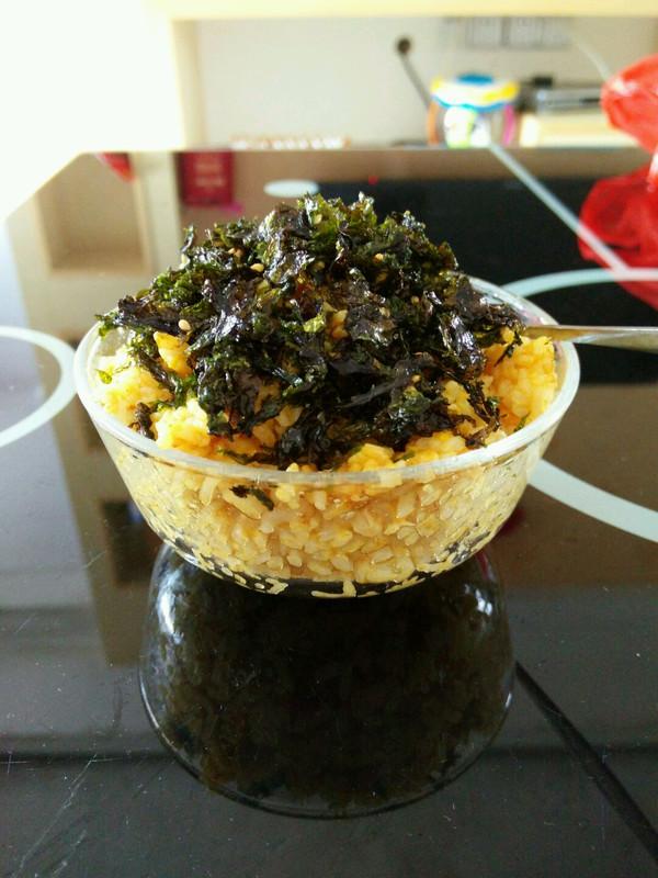 海苔咖喱蛋炒饭的做法