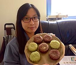 豆沙馅冰皮月饼(巧克力皮和绿茶皮)的做法