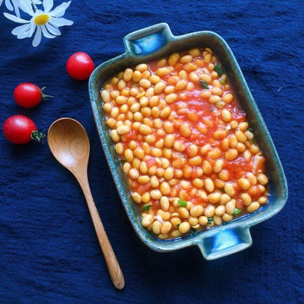 酸甜开胃口感绵软的茄汁黄豆的做法