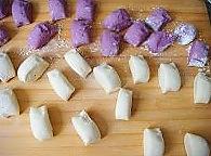 很惊艳的紫薯开花馒头的做法图解5