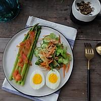 健康减脂早餐—芦笋鸡蛋沙拉