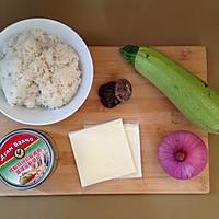 奶酪金枪鱼炒饭的做法图解1