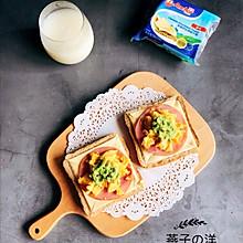 牛油果雞蛋開放式三明治