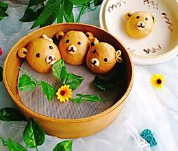 小熊红糖馒头+红枣枸杞子银耳汤#柏翠辅食节-营养佐餐#的做法