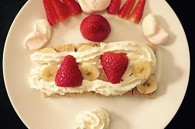 草莓粗粮小甜品—简单易做哈!