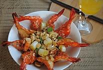 香煎黑虎虾的做法