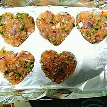 鸡胸肉杂蔬饼