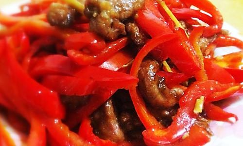 红椒肉丝(甜椒肉丝)的做法
