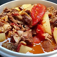 私家西红柿土豆炖牛腩,夏天减肥也得吃肉