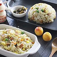 饭菜合一的营养低卡简餐-培根炒饭的做法图解11