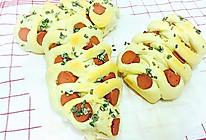 #东菱云智能面包机试用#火腿肠葱花面包的做法