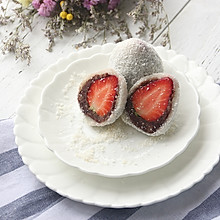 栗子红豆草莓大福#春天不减肥,夏天肉堆堆#