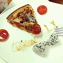 黑椒情人蔓越莓火龙果鸡肉披萨!