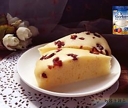 蔓越莓/红枣奶香松软发糕#嘉宝辅食宝典#的做法