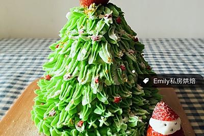 圣诞树戚风版(附淡奶油奶油霜做法)