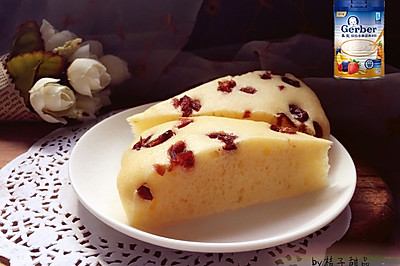 蔓越莓/红枣奶香松软发糕