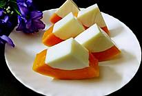 木瓜牛奶冻#单挑夏天#的做法