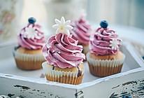 爆浆蓝莓黄油Cupcake纸杯蛋糕的做法