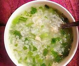 芥菜瘦肉粥——我家每天早上的营养粥之2的做法