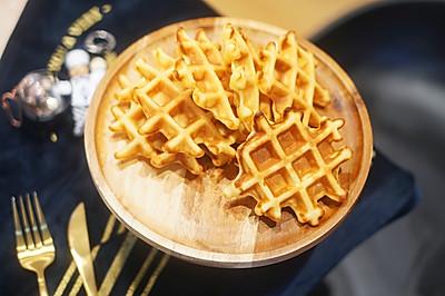 甜点|热量炸弹的奶油格子华夫饼,消耗淡奶油的利器