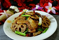 卤藕回锅肉的做法