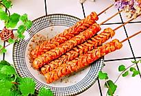 #太太乐鲜鸡汁玩转健康快手菜#烤火腿肠的做法