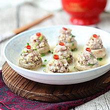 口蘑酿肉#美的微波炉菜谱#