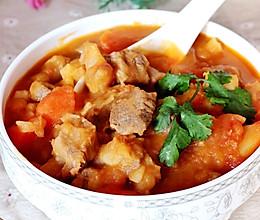 西红柿炖牛腩-冬季暖身的做法