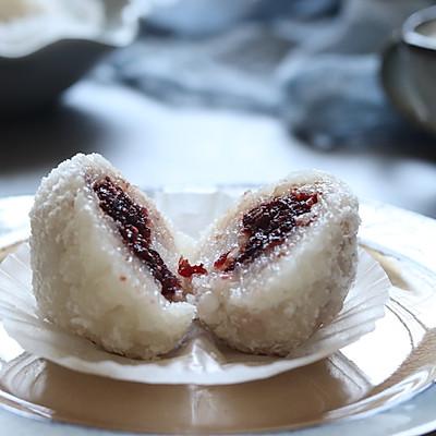 椰浆蔓越莓糯米糕,超越传统美味
