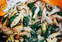 春笋韭菜炒双菇的做法