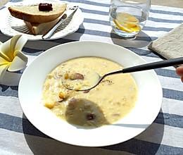奶香玉米浓汤的做法