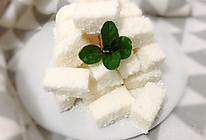椰丝牛奶小方块的做法