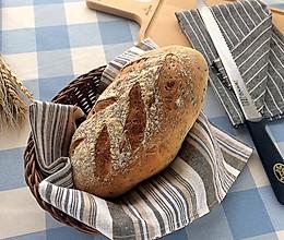 乳清黑芝麻黑麦欧包的做法
