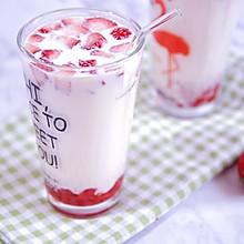 草莓大果粒牛奶这样做最好喝