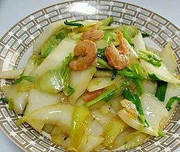 海米炒白菜的做法