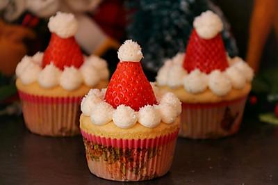 圣诞海绵纸杯蛋糕