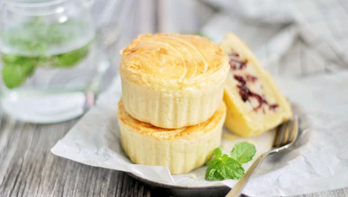 【一食呓语】法式蔓越莓乳酪月饼。