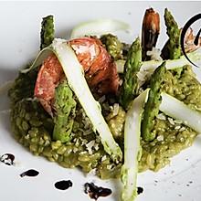 「回家菜谱」——芦笋大虾意大利饭